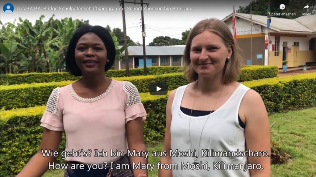 The video to the school sponsorship program